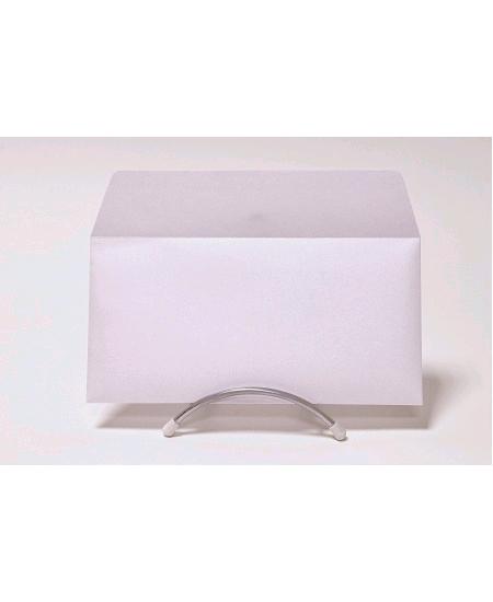 enveloppe blanche iriséex20/11x22cm