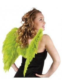 ailes d`ange vert pomme en plumes