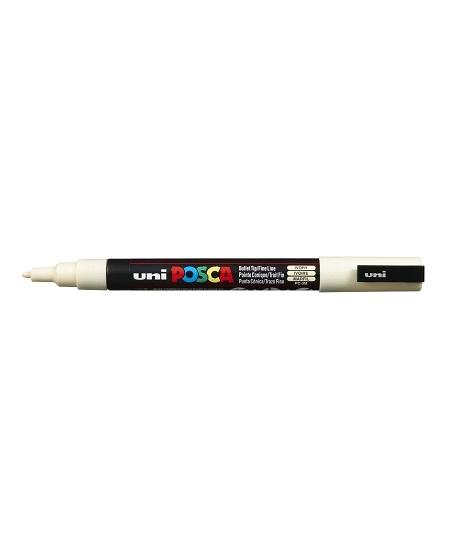 marqueur posca 1,3mm ivoire pointe fine