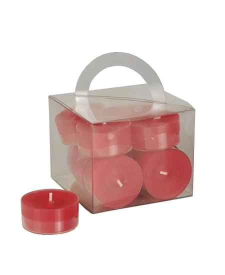 12 chauffe plats D3.8cm rouge