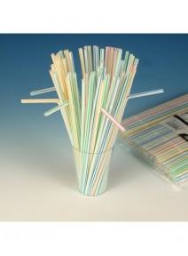 250 pailles flexibles 23cm