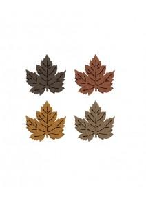 12 feuilles automne en feutrine