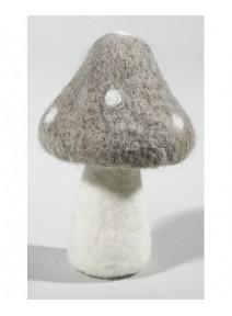 champignon en feutrine H16.5cm