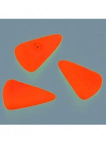 20 perles en verres orange fluo