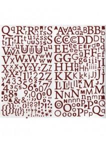 300 alphabet et chiffre pailleté rouge