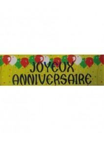 banderole 2M43 joyeux anniversaire jaune