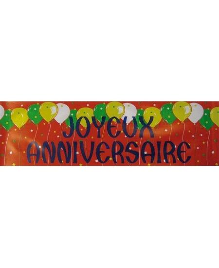 banderole 2M43 joyeux anniversaire rouge