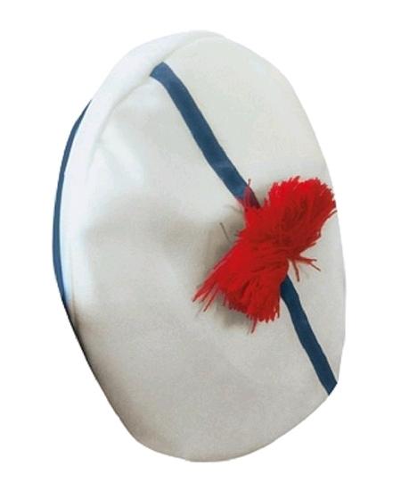 béret de marin en tissu