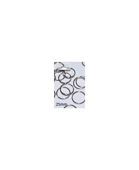 anneau doublex5/D3cm argenté