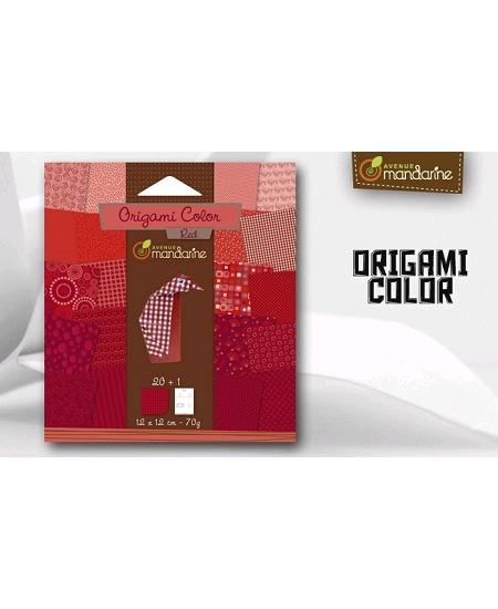 papier origamix20 rouge