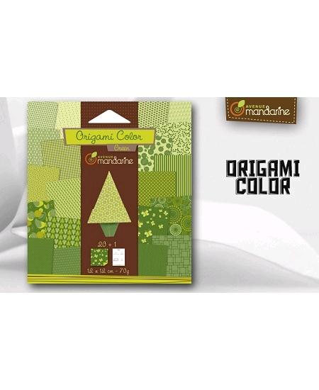 papier origamix20 vert