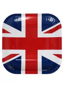 assiettesx10 Angleterre 24x24cm carton