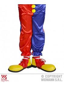 chaussure clown enfant jaune/rouge