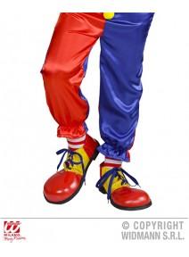 chaussure clown enfant rouge/jaune