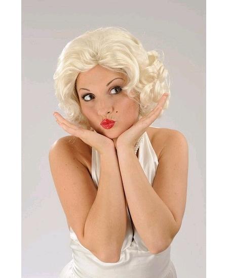 perruque Maryline blond pâle