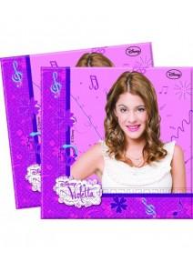 20 serviettes 33x33cm Violetta