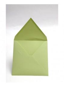 enveloppe vert bourgeonx20/12x12cm