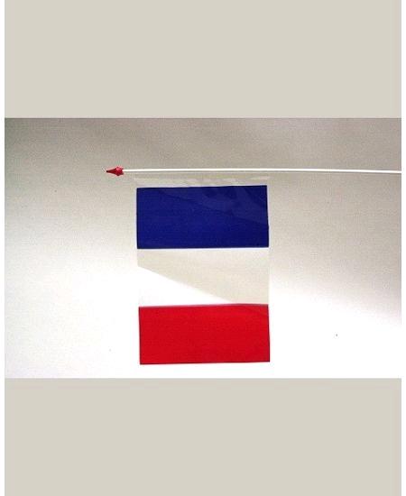 drapeaux x10/9.5x16cm France plastique