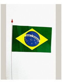 drapeaux x10 brésil 9.5x16cm