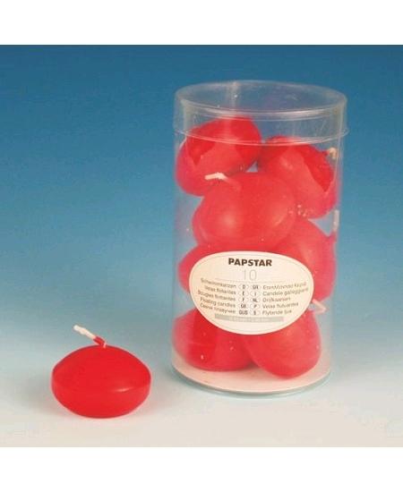 bougies flottantesx10/D4.5cm rouge