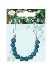 perles céramiquex12/D8mm turquoise