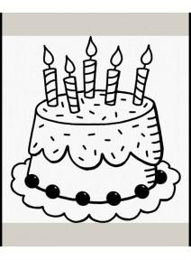tampon gâteau d`anniversaire (C)