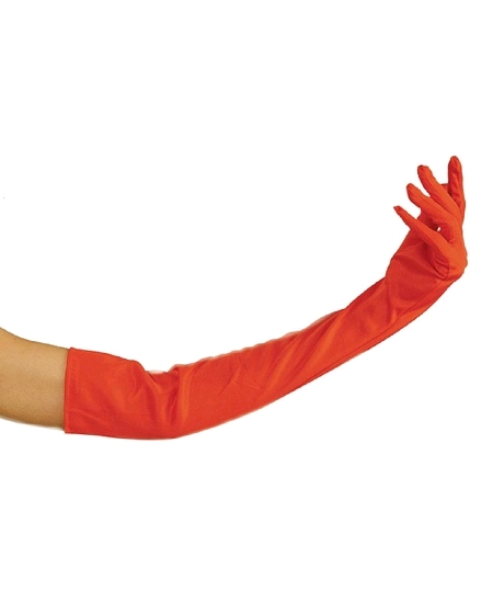 gants long rouge 58cm
