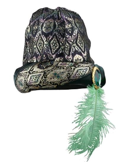 chapeau fakir avec plume