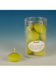 bougies flottantesx10/D4.5cm vert kiwi