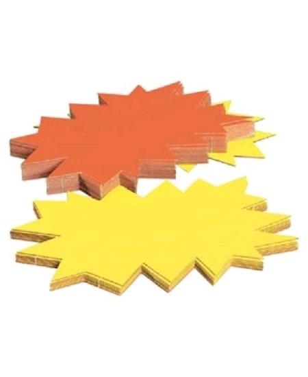 5 éclatés 16cmx24cm fluo jaune/orange