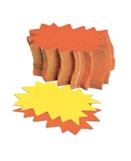 50 éclatés 12cmx16cm fluo jaune/orange
