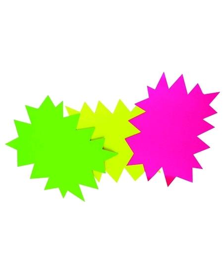50 éclatés 8cmx12cm fluo rose/vert