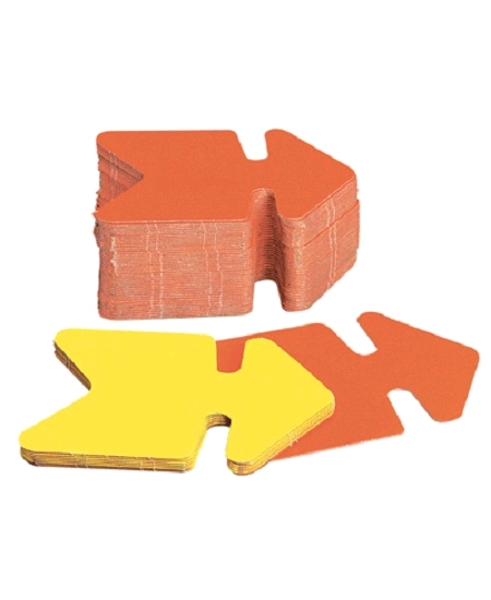 50 fléches  6cmx9cm fluo jaune/orange