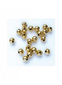 perles métalx300/D3mm doré