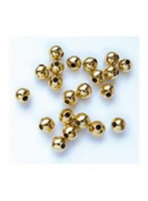 perles métalx100/D5mm doré