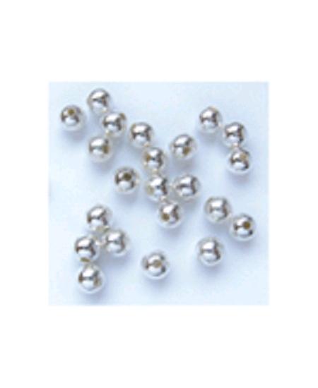perles métalx100/D5mm argenté