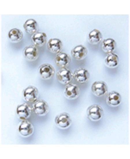 perles métalx100/D6mm argenté