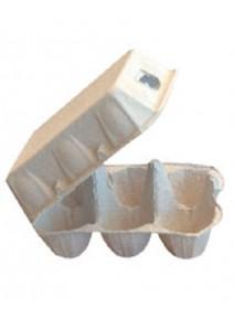 33 boîtes de 6 oeufs en cellulose moulé