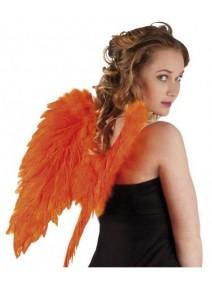 ailes d`ange orange fluo en plumes