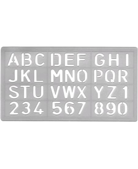 pochoir alphabet + chiffres 3cm