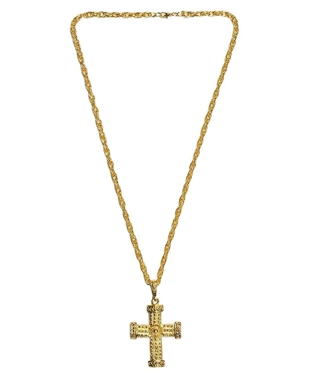 collier croix or 42cm
