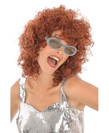 lunette disco pailletée argent