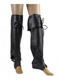 surbottes noires avec lacets H57cm