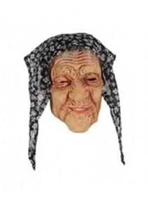 masque grand mère avec foulard