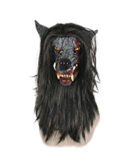 masque souple loup garou avec cheveux