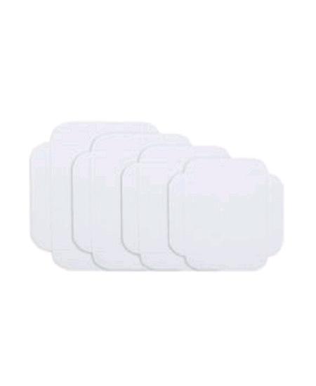 carrés rainésx250/17cmx17cm blanc