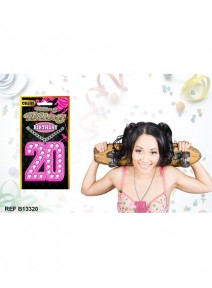 collier 20 birthday bling bling rose