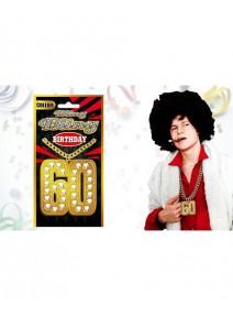 collier 60 birthday bling bling ocre