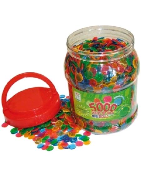 5000 pions D15mm en plastique