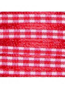 ruban arméx5M carreaux rouge 6mm